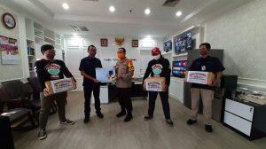 Cegah Sebaran Covid-19, Tribunnews dan Cardinal Donasikan Masker ke Polres Jakarta Utara