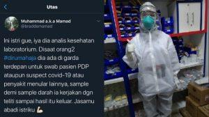 Viral Suami Ceritakan Istri Bertaruh Nyawa Tangani PDP Corona, Warganet Apresiasi Antar Makan ke RS